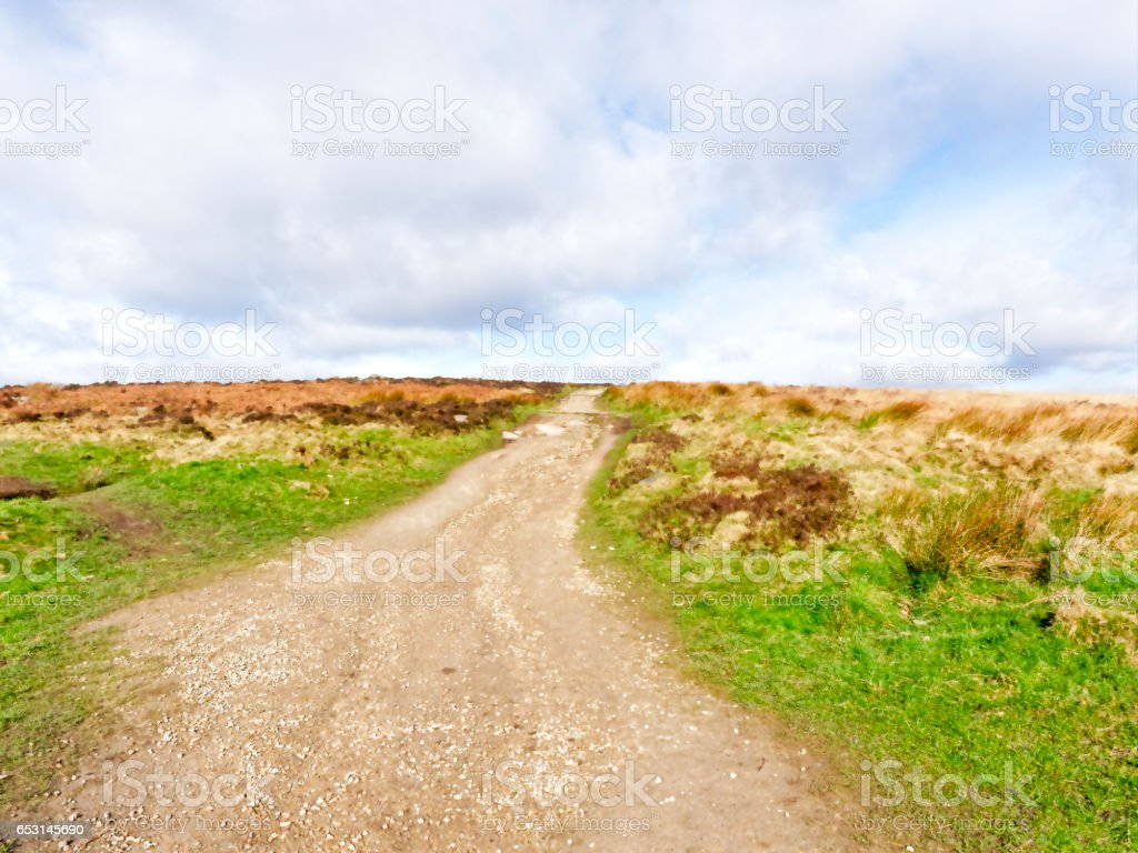 Wide path across the Dales stock photo