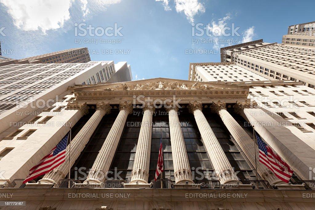 Wide photo of New York Stock Exchange stock photo