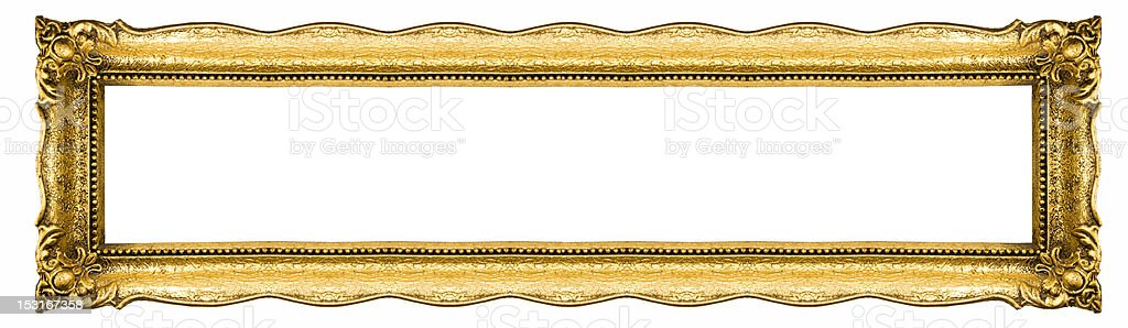 Wide Picture Frame stock photo