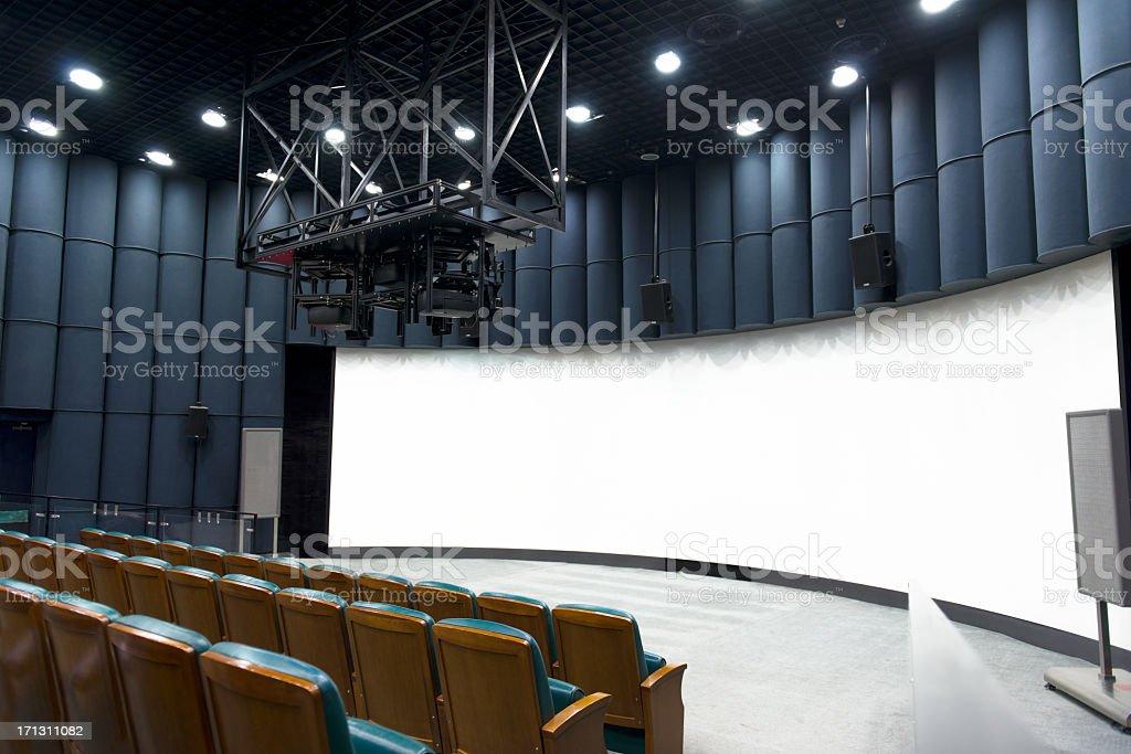 Wide Projection Scren stock photo