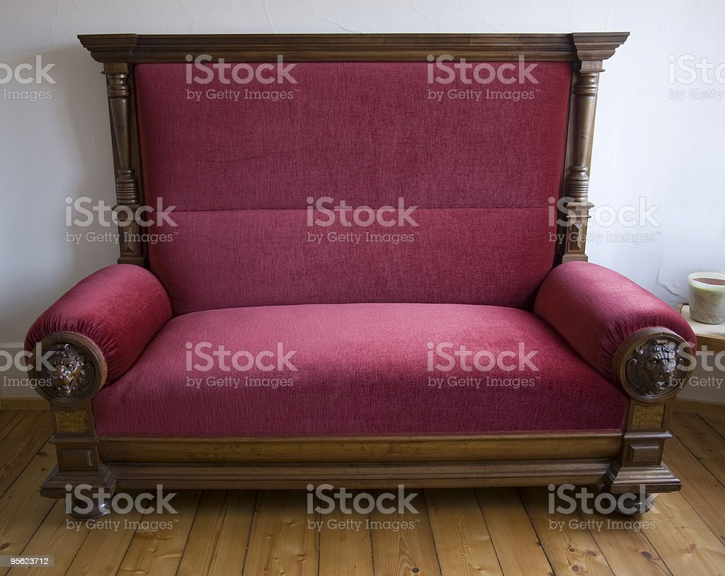 wide red armchair royalty-free stock photo