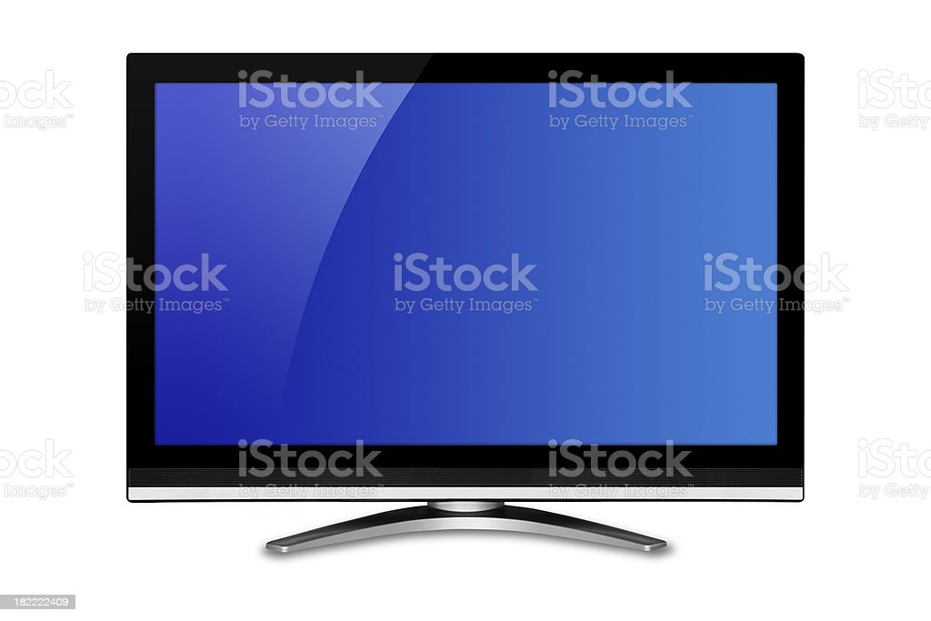 Wide screen television royalty-free stock photo