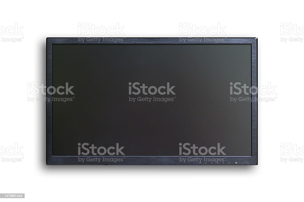 wide screen TV isolated with clipping path stock photo