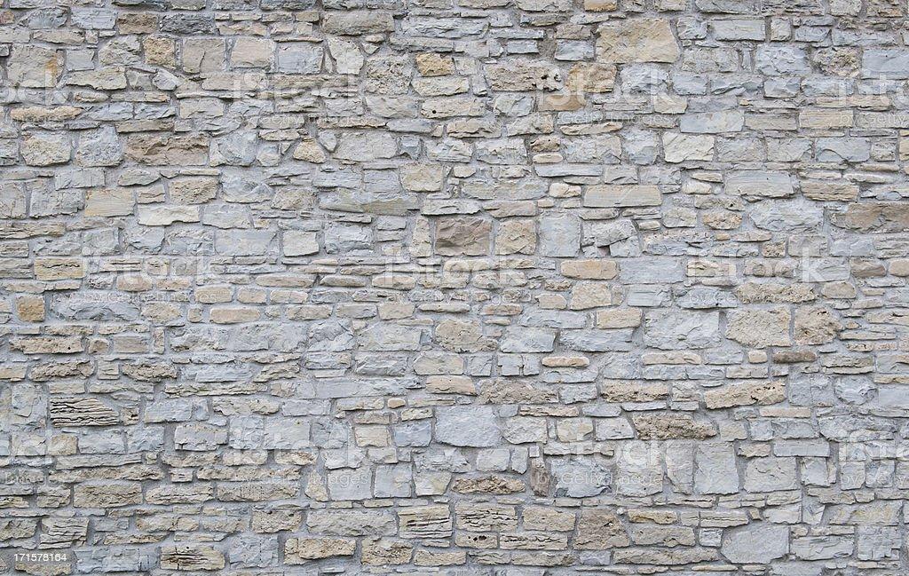 Wide shot of a plain limestone wall stock photo