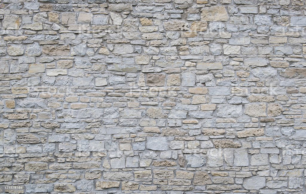 Wide shot of a plain limestone wall stock photo