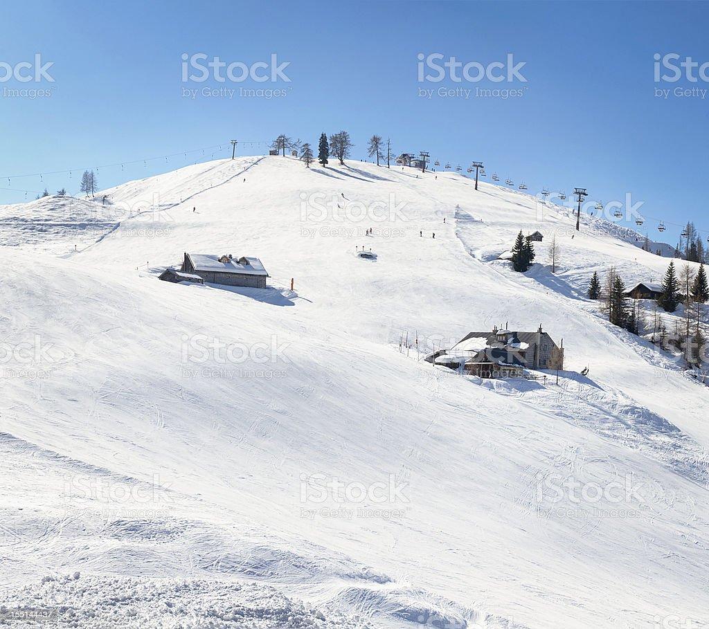 Wide Ski Area stock photo