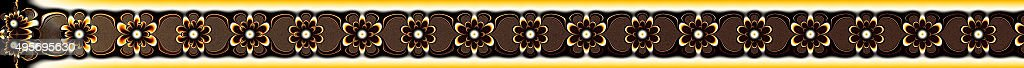 Title bar ribbon header strip floral fractal image stock photo