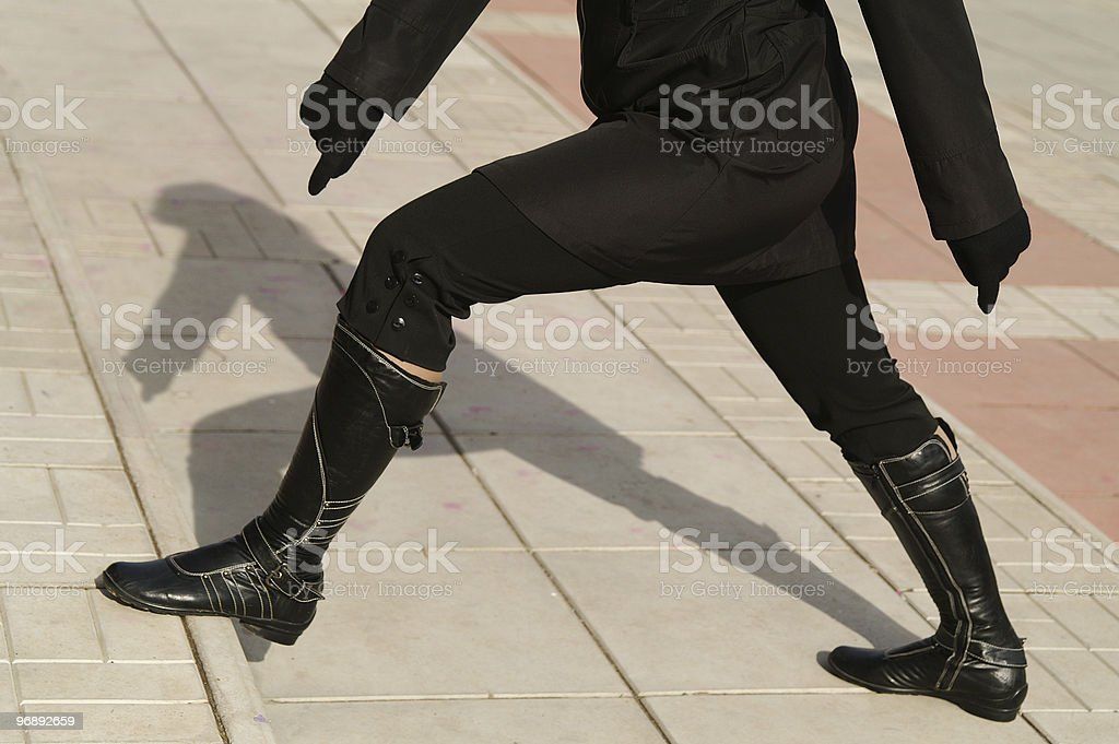 Wide step royalty-free stock photo