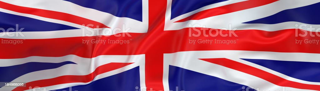 Wide UK Flag banner royalty-free stock photo