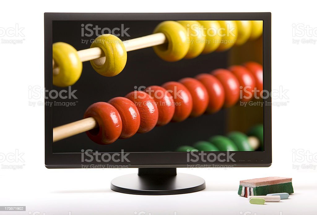 Wide view monitor. royalty-free stock photo