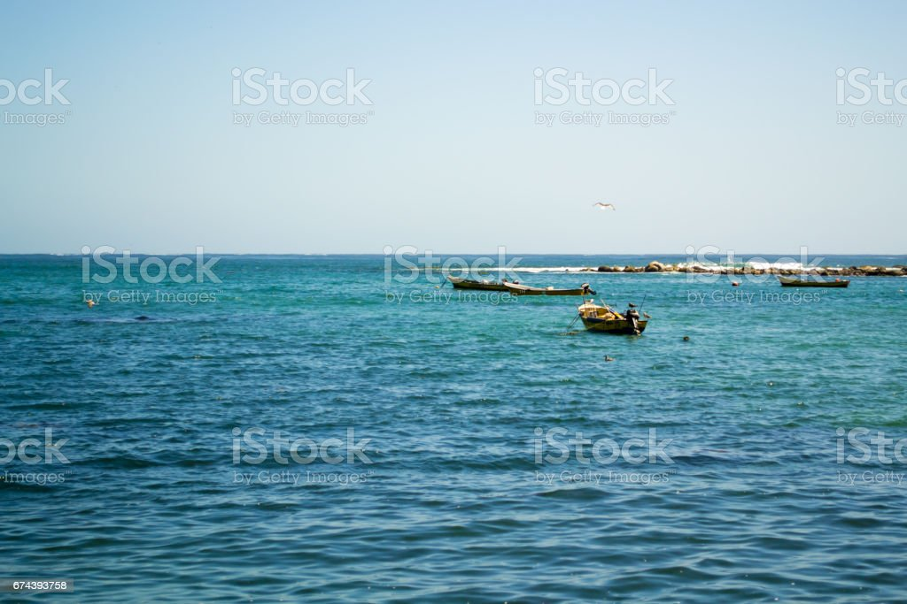 Wide view of the sea stock photo