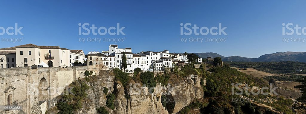 Wide view on old part of Ronda, Spain royalty-free stock photo