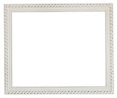 wide white classic wooden picture frame