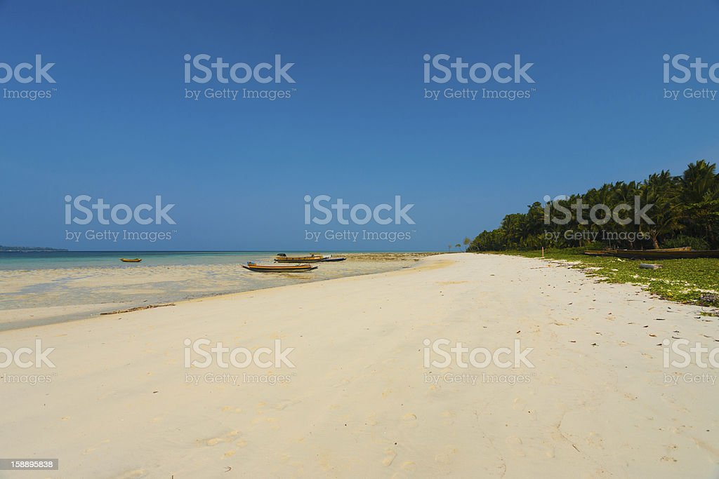 Wide White Sand Beach Five Havelock Island stock photo