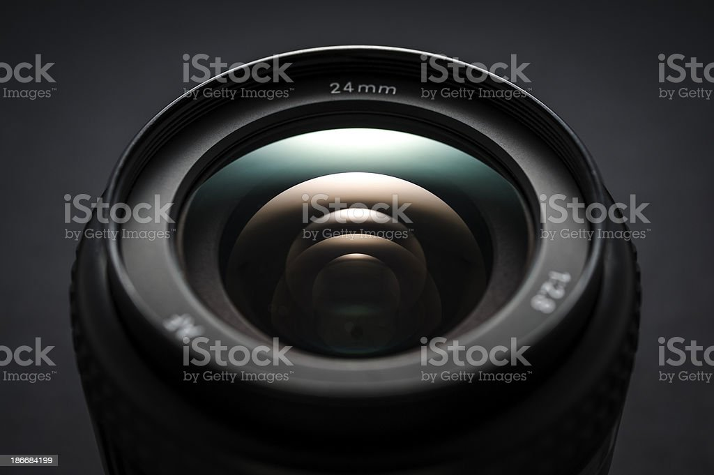 Wideangle lens close-up royalty-free stock photo