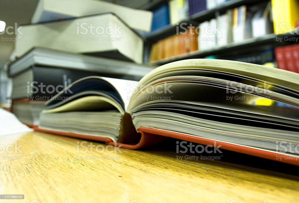 Wide-Angle Library Book royalty-free stock photo