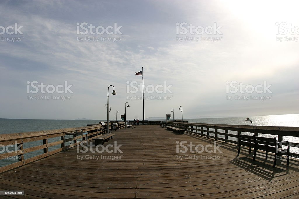 Wide-Angle Pier royalty-free stock photo