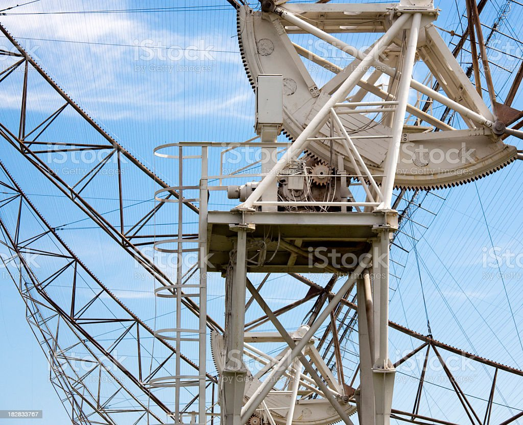 Wide-band radio telescope DKR 1000 in Russia stock photo