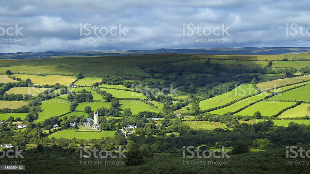 Widecombe In The Moor stock photo