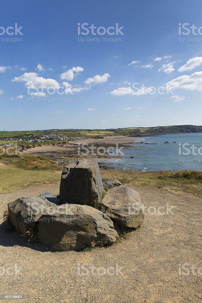 Widemouth Bay Cornwall England UK summer day stock photo