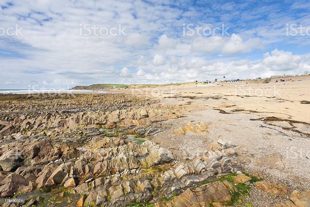 Widemouth Bay Cornwall photo libre de droits