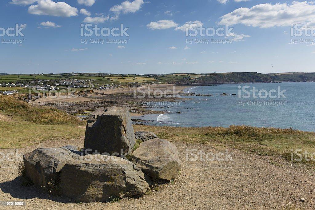 Widemouth Bay near Bude Cornwall England UK stock photo