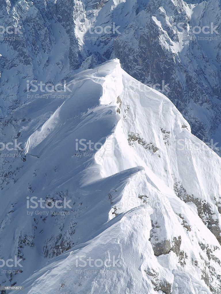 Widerstand auf der Zugspitze stock photo