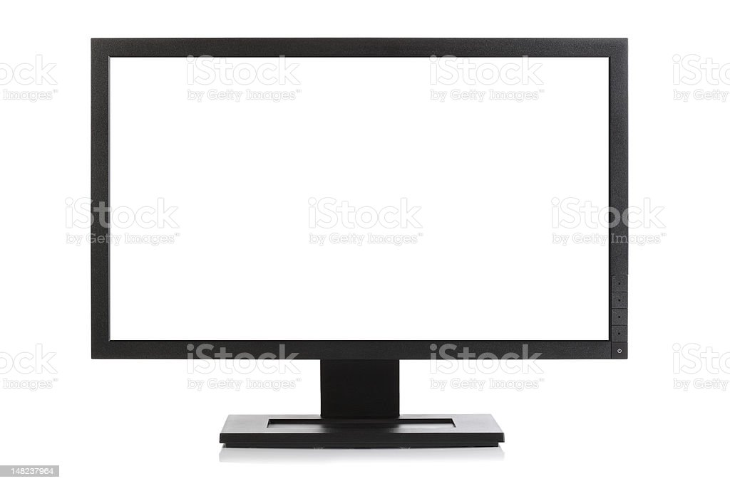 Widescreen computer monitor or television royalty-free stock photo