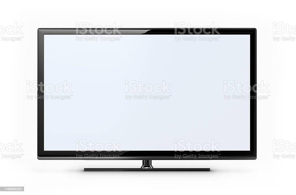 Widescreen HD TV stock photo