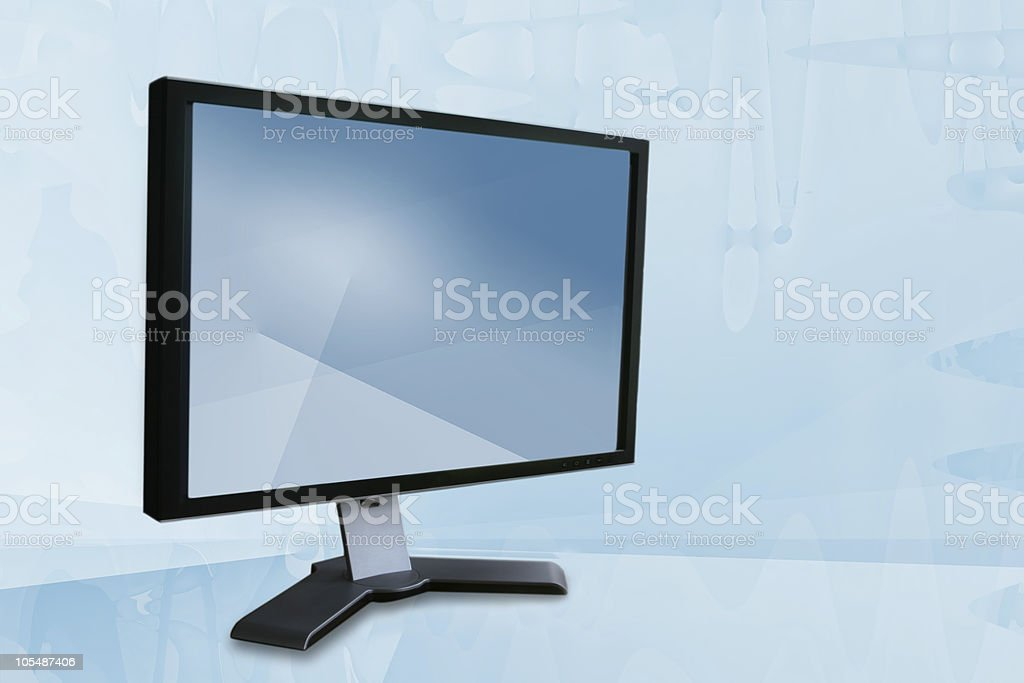 Widescreen LCD Monitor royalty-free stock photo