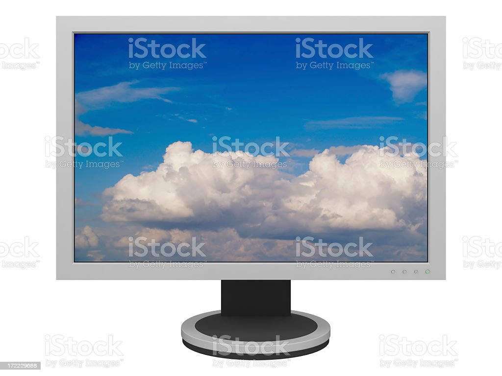 Widescreen LCD Panel XXL (with Clipping Path) royalty-free stock photo