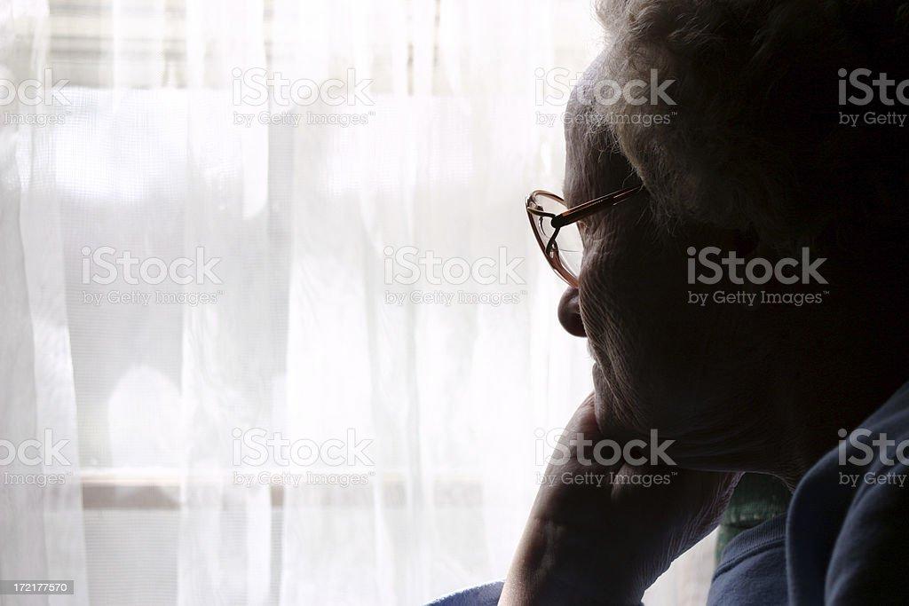 Widow Alone royalty-free stock photo