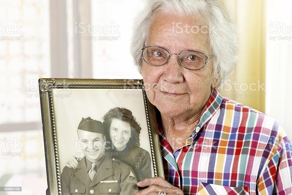 Widowed Grandmother stock photo