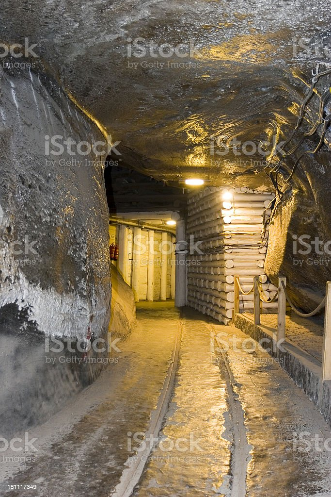 Wieliczka Salt Mine stock photo