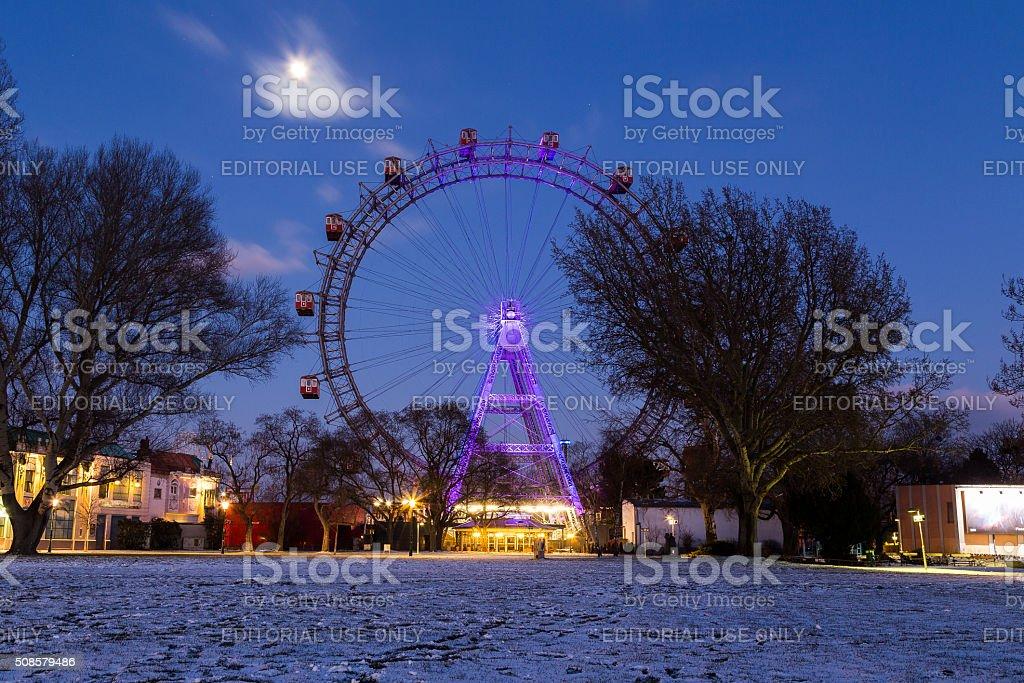 Wiener Riesenrad in the Winter stock photo
