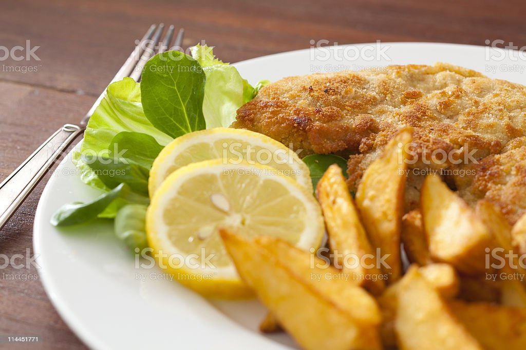 Wiener Schnitzel royalty-free stock photo