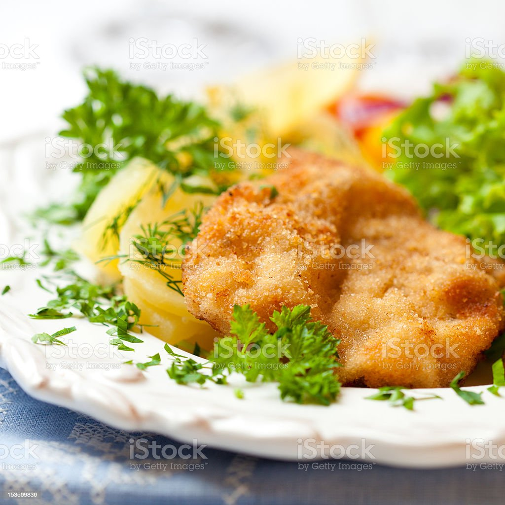 Wiener Schnitzel stock photo
