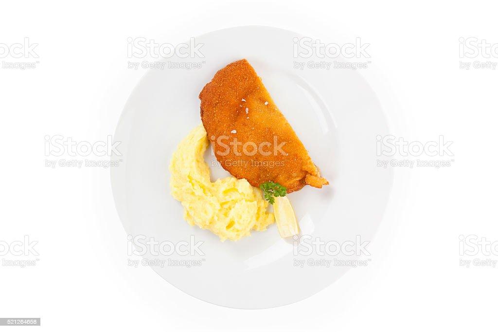 Wiener schnitzel. stock photo