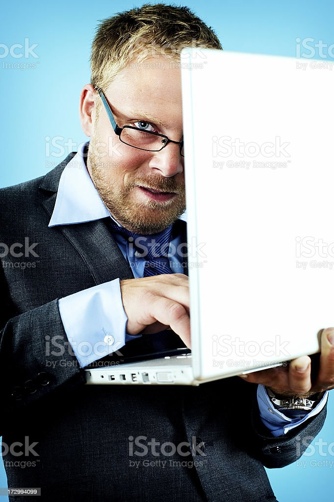 wierd businessman royalty-free stock photo