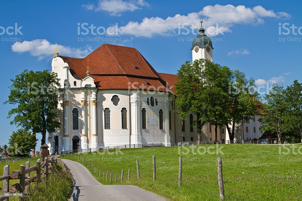 Wies church in Upper Bavaria stock photo