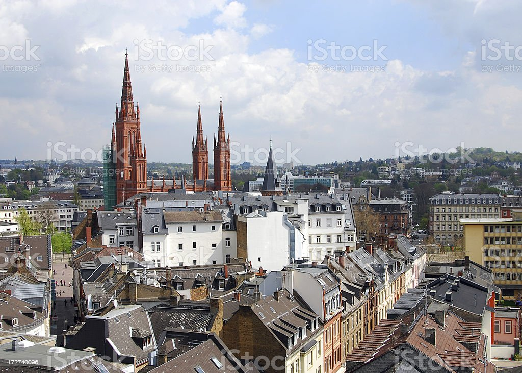 Wiesbaden Skyline stock photo