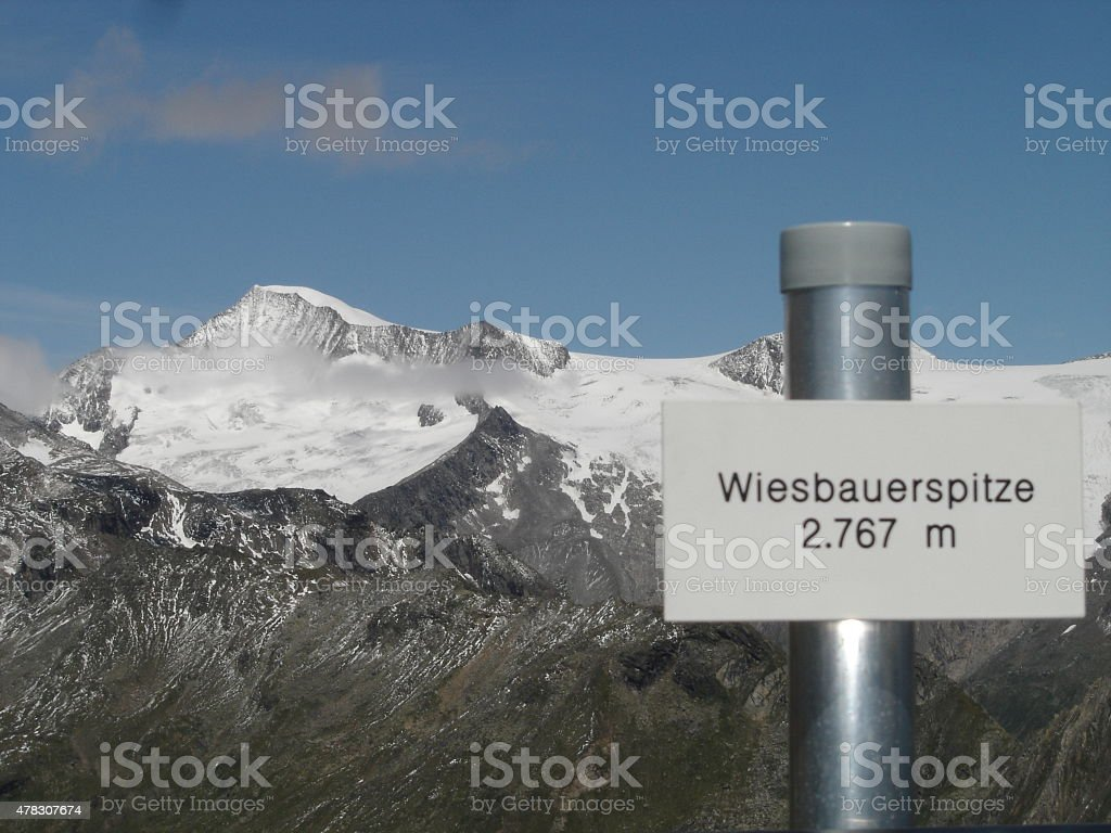 Wiesbauerspitze ( aka Mullwitzkogel ) stock photo