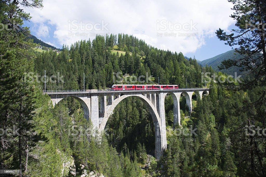 Wiesen viaduct stock photo
