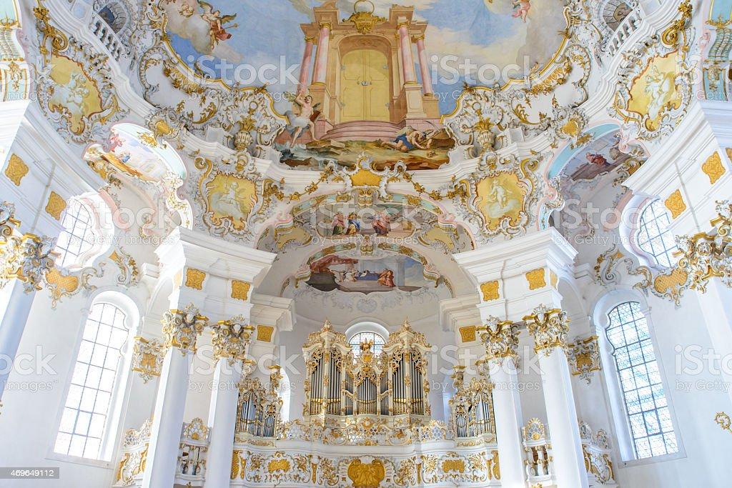 wieskirche church in bavaria, Germany stock photo
