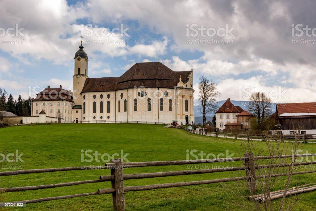 Wieskirche stock photo