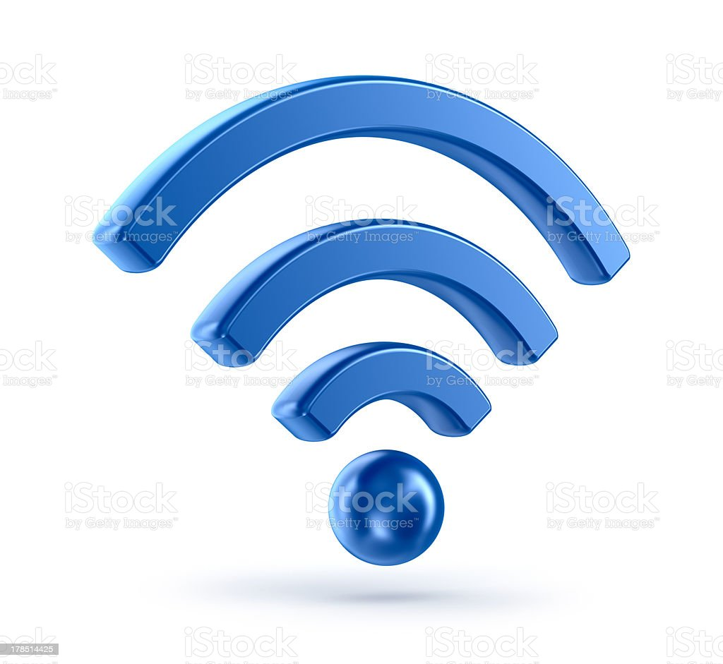 wifi (wireless network) 3d icon symbol stock photo