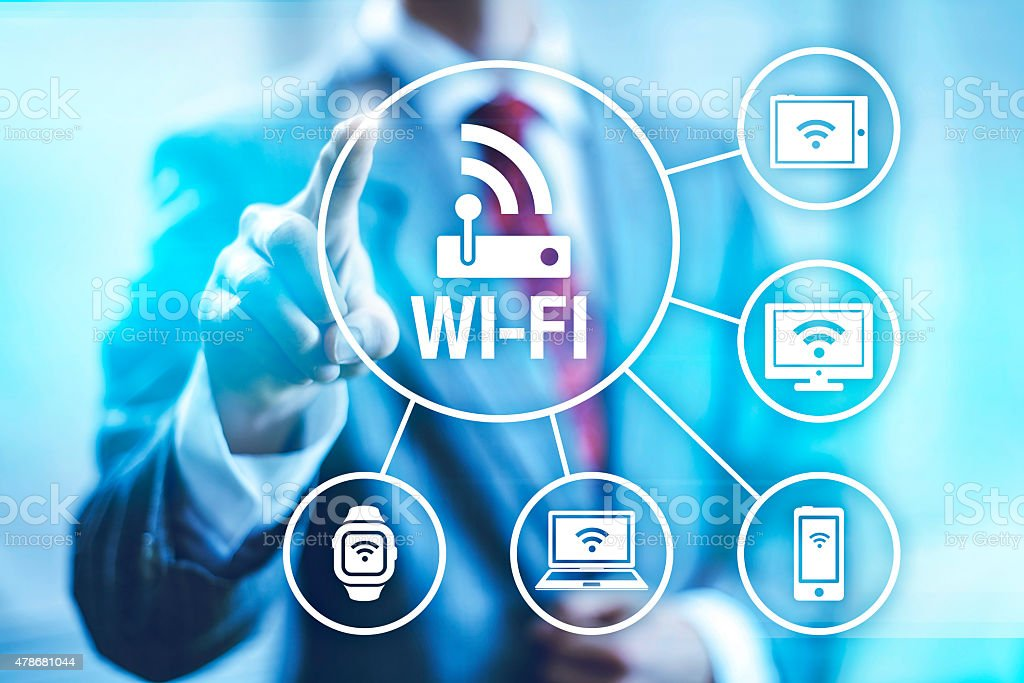 Wi-fi concept illustration stock photo