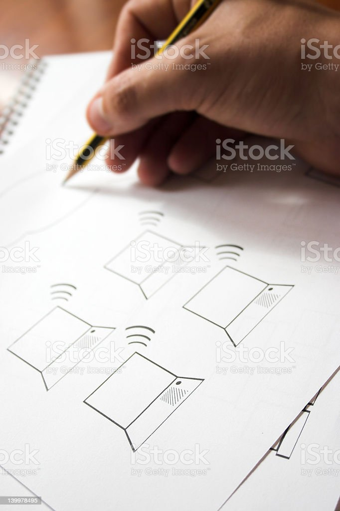 Wifi design royalty-free stock photo