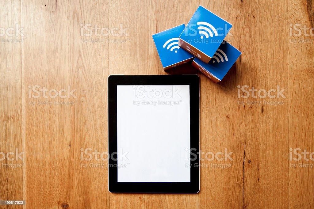 Wifi digital tablet stock photo