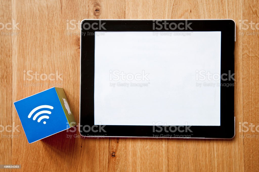 Wifi digital tablet royalty-free stock photo